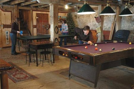 Game Room at Barn on the Bluff - Elkader, Iowa