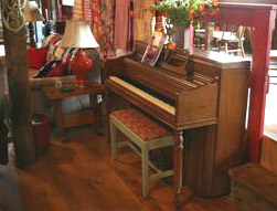 Musical guests are welcome to play the piano.