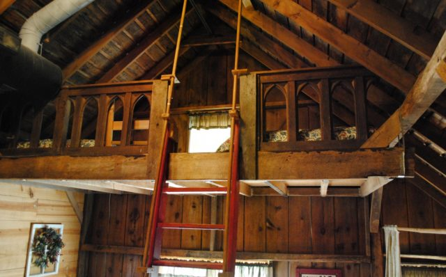 Fun loft sleeping area