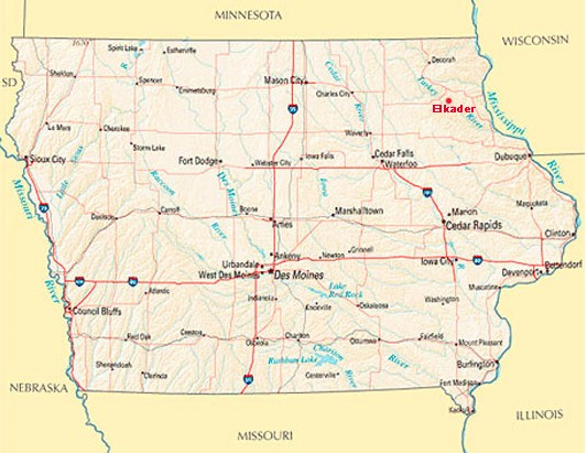 Map - Barn on the Bluff — Elkader, Iowa