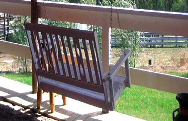 Relax on the porch swing