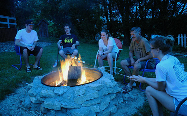 Great sharing around the firepit